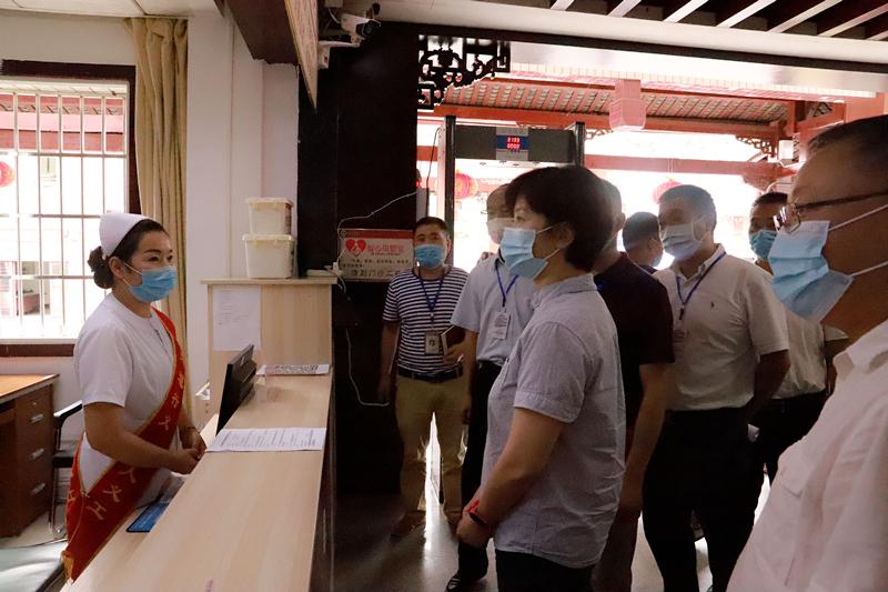 2020年7月23日,市委常委、市委宣传部部长、统战部部长郑欣一行来我院督查指导深化全国文明城市建设工作。